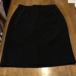 "Liz Claiborne black 26"" skirt like new lined"